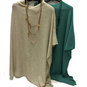 Poncho in cashmere